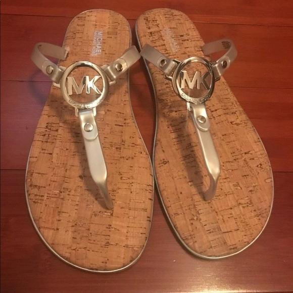 01589da07 Michael Kors Shoes   New Womens Silver Jelly Cork Sandals   Poshmark